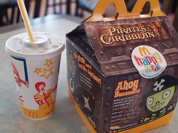 Heroin Happy Meal. Drug Dealer using Happy Meals to deliver Heroin.