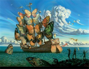Salvador Dali Butterfly Boat