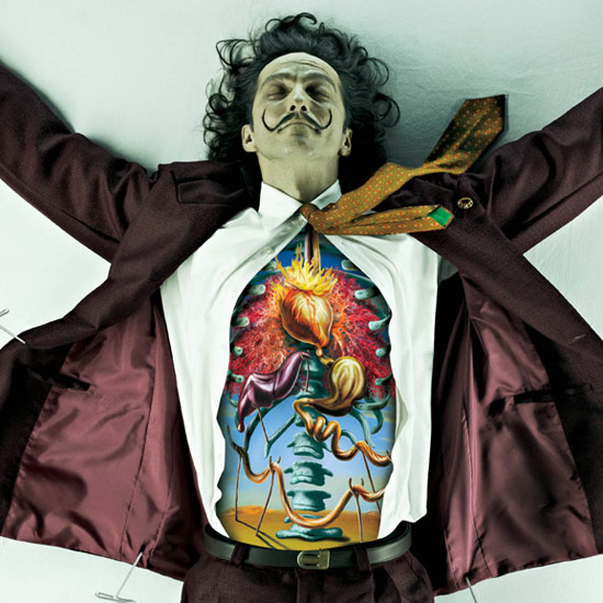 Pinned and Dissected...the man...Salvador Dali