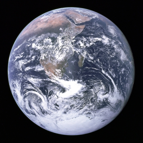 This is a REAL picture of the Earth, taken from Apollo 17 during Apollo's historic and scientific journey!