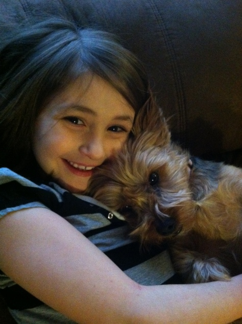 Laney and her Yorkie, Kia. These two are inseparable. Kia might as well have Crohn's disease as she spends hours everyday in the bathroom with Laney!
