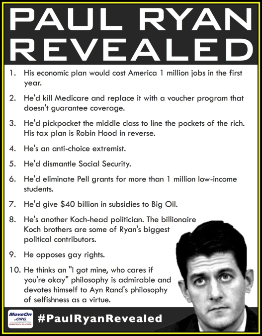 Paul Ryan Revealed. The truth. This does not even seem far-fetched at all! He is a clown.