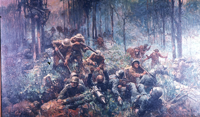 The Battle for Belleau Wood by Frank Schoonover. Image courtesy of www.mca-marines.org via Google Images.